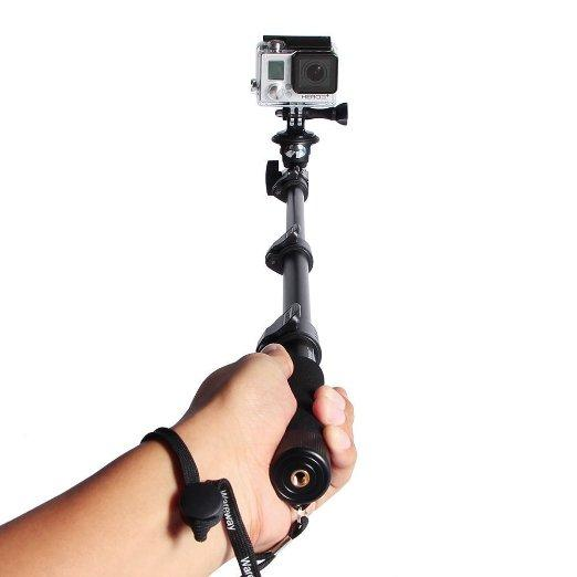 Telescopic Handheld Professional Monopod Camera Extender Pole with Tripod Mount